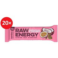 BOMBUS Raw energy-Maracuja 50 g 20 ks - Raw tyčinka