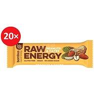 BOMBUS Raw energy - Peanut+dates 50 g 20 ks - Raw tyčinka