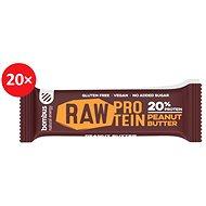 BOMBUS Raw protein-Peanut butter 50 g 20 ks - Raw tyčinka