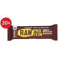 BOMBUS Raw protein-Banana 50 g 20 ks - Raw tyčinka