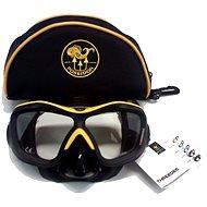 Poseidon 3D Black/Yellow - Potápačská maska