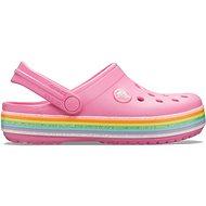 Crocband Rainbow Glitter Clg Kids Pink Lemonade růžová