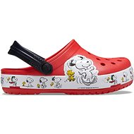 Crocs Fun Lab Snoopy Woodstock Clog Kids Flame červená - Pantofle