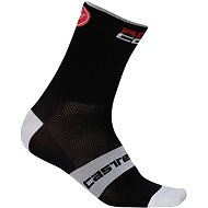 Castelli Rosso Corsa 9 Sock Black XXL - Ponožky