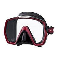 Tusa Freedom HD, čierny silikón, červený rámček - Maska