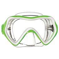 Mares Comet, transparentný silikón, zelený rámček - Maska