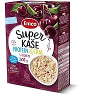 Emco Super kaše Protein & chia s višněmi 3x55g - Kaša