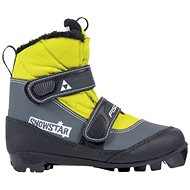 Fischer SNOWSTAR BLACK YELLOW - Topánky na bežky bf46ffcc158