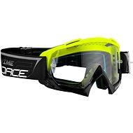 Force GRIME zjazdové čierne-fluo, číre sklo - Cyklistické okuliare