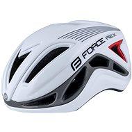 Force REX, bielo-sivá, L – XL, 58 cm – 61 cm - Prilba na bicykel