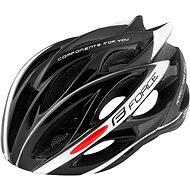 Force BULL, čierno-biela - Prilba na bicykel