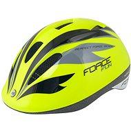 Force FUN STRIPES detská, fluo-čierno-sivá - Prilba na bicykel