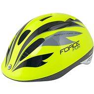 Force FUN STRIPES detská, fluo-čierno-sivá M, 52 cm – 56 cm - Prilba na bicykel