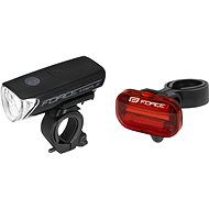 Force Sharp, Front + Rear Lights, Battery - Bike Light