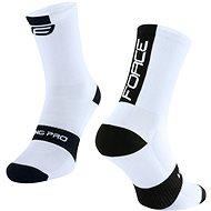 Force LONG PRO biele/čierne - Ponožky