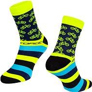 Force CYCLE žltá 42 – 46 EÚ - Ponožky