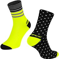 Force SPOT čierne/žlté - Ponožky