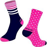 Force SPOT ružová/modrá - Ponožky
