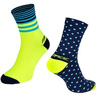Force SPOT modrá/žltá 42 – 46 EÚ - Ponožky