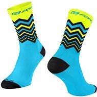 Force WAVE žltá/modrá - Ponožky