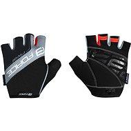Cyklistické rukavice Force RIVAL, čierno-sivé M
