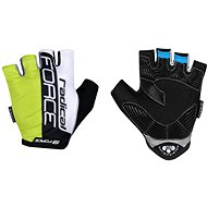 Force RADICAL, Fluo-White-Black, XXL - Cycling Gloves
