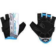 Force RADICAL, Black-White-Blue, L - Cycling Gloves