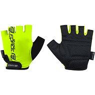 Cyklistické rukavice Force KID, fluo