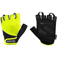 Cyklistické rukavice Force GEL, fluo-čierne