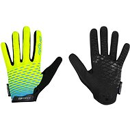 Force KID MTB ANGLE, Fluo-Blue - Cycling Gloves