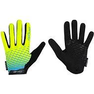 Force MTB ANGLE, fluo-modré - Cyklistické rukavice