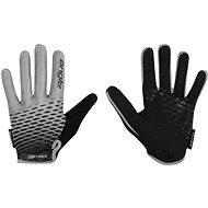 Cyklistické rukavice Force MTB ANGLE, sivo-čierne