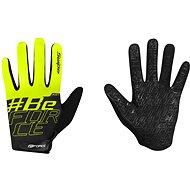 Cyklistické rukavice Force KID MTB SWIPE, čierne-fluo