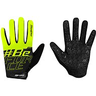 Cyklistické rukavice Force MTB SWIPE, čierne-fluo