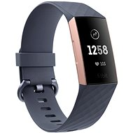 Fitbit Charge 3 Blue Grey/Rose-Gold Aluminium - Fitness náramok