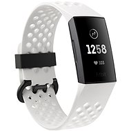 Fitbit Charge 3 Frost White Sport / Graphite Aluminium - Fitness Bracelet