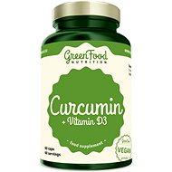 GreenFood Nutrition Curcumin + Vitamin D3 90cps - Vitamín