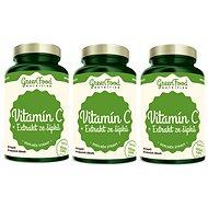 GreenFood Nutrition Vitamín C+ Extrakt ze šípků 120cps 2+1 zdarma - Vitamín