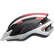 BELL Crest Mat White/Red/Black - Prilba na bicykel