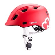 Hamax Thundercap street červená / strieborné pásiky - Prilba na bicykel