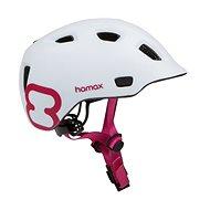 Hamax Thundercap street biela/ružové pásiky - Prilba na bicykel
