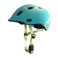 Hamax Thundercap street tyrkysová / žlté pásiky - Prilba na bicykel