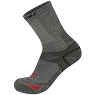 Hannah Walk sivé/červené - Ponožky