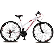 "Olpran Player 28 Lady – M/18"" white/red/black - Crossový bicykel"