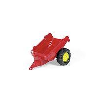 Traktor s 1 osou prívesu - červený - Šliapací traktor