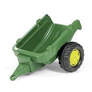 Vlečka za traktor 1-osá – tmavozelená - Šliapací traktor