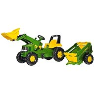 Rolly Junior John Deere s nakladačom a ťahadlom - Šliapací traktor