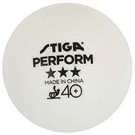 Stiga Perform ***, ITTF, biele, 3 ks - Loptičky na stolný tenis