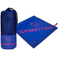 SPRINTER uterák z mikrovlákna 100 × 160 cm, modro-ružový - Uterák