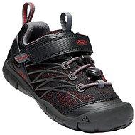 Keen Chandler CNX Children raven/fiery red - Trekingové topánky